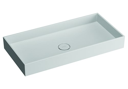 click on Rectangular Countertop Mineral Cast Basin image to enlarge