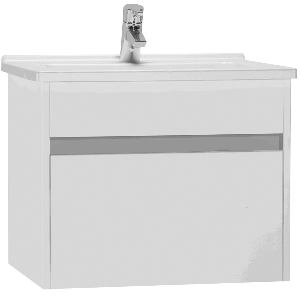 click on 60cm Vanity Unit with Drawer and Basin image to enlarge