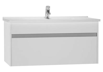 click on 100cm Vanity Unit with Drawer and Basin image to enlarge