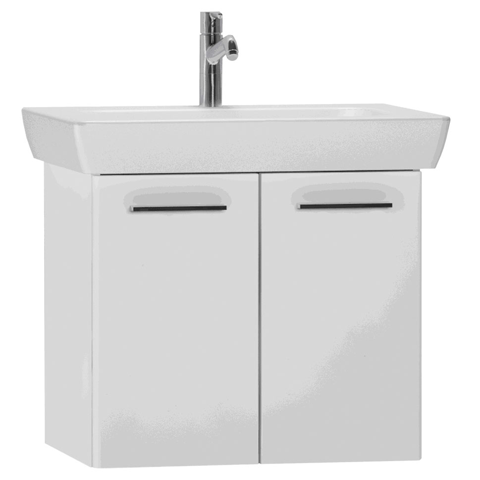 click on 65cm Double Door Vanity Unit with Basin image to enlarge
